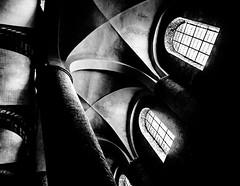 Opening.jpg (Klaus Ressmann) Tags: omd em1 fburgundy klausressmann romanicmonastery spring tournus window abbey architecture blackandwhite contrast flicvarious vault omdem1