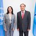 Her Excellency Aviva Raz Shechter, Ambassador, Permanent Representative of Israel and Houlin Zhao, Secretary-General, ITU.
