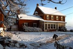 December dusting  .  .  . (ericrstoner) Tags: farmhouse stonerfarmhouse kodachrome digitized lancaster lancastercounty pennsylvania manheimtownship neve