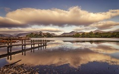 Within The Clouds (Captain Nikon) Tags: clouds reflections jetty launches woodland fells mountains moody spring derwentwater cumbria northwestengland greatbritain uk england nikond7000 sigma1020mmf4 srb06graduatedneutraldensityfilter
