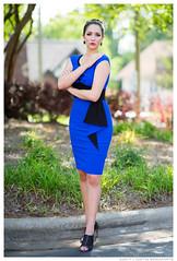 Sara - Silence and Stillness (jfinite) Tags: model beauty fashion environmentalportraiture spring dress bluedress heels legs