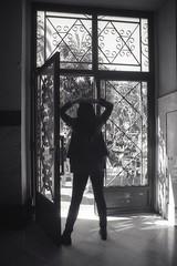 (Gonzalo Campos Garrido) Tags: girl chica silhouette shadows contrast indoors portrait analog film mamiya 35mm valencia fallas ilford400 blackandwhite bnw bw noiretblanc blancoynegro monochrome