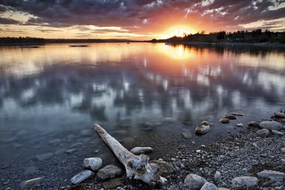 Glenmore Reservoir May 10 sunset