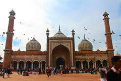 Jama Masjid Mosque of New Delhi (Chandana Witharanage) Tags: india newdelhi jamamasjid mosque mughaleraarchitecture holyplace landmark islam muslim culture ethnic serene peaceful photograph photographer 7dwf landscape