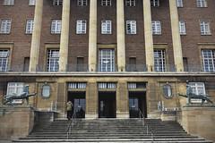 Norwich City Hall [122/365 2017] (steven.kemp) Tags: norwich city hall building lion statue architecture low pov steps columns