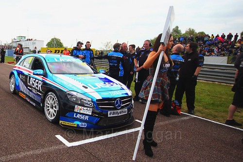 Aiden Moffat on the grid at the Thruxton BTCC weekend, May 2017
