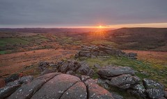 Day break (http://www.richardfoxphotography.com) Tags: dartmoor houndtor sunrise granite tor moorland outdoors bracken