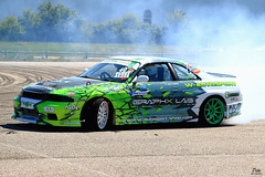 Drift time at the Japan Touch, Eurexpo Lyon 2017 (Pito Charles) Tags: canon canoneos70d canon70d 70d 50mm 50mmf18 drift car auto automobile run flat tyre smoke fumée eurexpo lyon france french japan touch japantouch sport sportautomobile