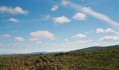 Hofsjokull (IggyRox) Tags: iceland island europe scandinavia north highlands nature beauty film color 35mm mountains kjolur hofsjokull hveravellir sky blue clouds glacier view lava arnessysla