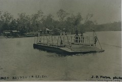 Ferry at Brunswick Heads, 1920 (RTRL) Tags: brunswickheads punt ferry ferrie