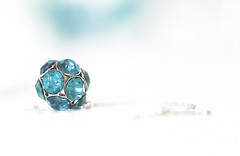 my disco days (rockinmonique) Tags: 52in52 highkey macro bokeh blue turquoise bling jewellery earing sparkle shine pretty girly moniquew canon canont6s tamron copyright2017moniquew