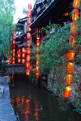 Lijiang 's avonds (jacobotten64) Tags: unescoworldheritagesite avond china lampion lijiang yunnan