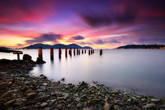Milky Sea [explored] (fiz_zero) Tags: nikon nikond750 nikon1635mmf4vr sunset sunrise sky skyline cloud longexposure beach sea seascape nature landscape jetty pier island water rock background wallpaper outdoor dusk summer beauty mountain magic marinaisland lumut perak malaysia tourismmalaysia visitmalaysia explore inexplore nisifilter nisind1000 nisimalaysia singhray awesome iamnikon
