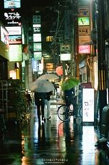 下雨的夜晚 ([M!chael]) Tags: nikon f3hp nikkor 5014 ai kodak ultramax400 film manual japan kyoto rain night