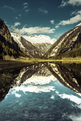 Stappitzer see (johanna151) Tags: austria stappitzersee mountain lake landscape water sky blue snow alps europe central reflections clouds nature national park