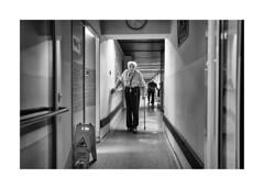 Wet floor (Jan Dobrovsky) Tags: retirement document leica q blackandwhite northernbohemia contrast grain human portrait reallife