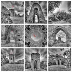 Autour de la Tour (Robinl81) Tags: nb black white hdr castel chateau ruine ruined brique brick monochrome tour tower