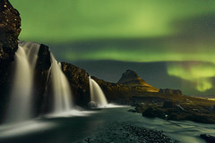 Kirkjufell Islande (EtienneR68) Tags: landscape aurora aurores boreales eau montagne mountain nature paysage water waterfall kirkjufell cascade pays iceland