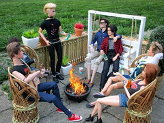 Bonfire! (Anna Smithson) Tags: barbie doll ken homme integrity fashion royalty poppy parker vanessa perrin funny face collection audrey hepburn steffie mold hunger games gale katniss callum windsor winsor basics black label sebastian havoc finnick model muse articulated bonfire diorama yard dollhouse roombox summer friends party punk gay love couple cute style