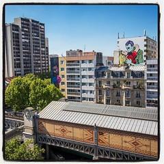 Bom-K et D*Face @ Paris... Les deux nouvelles pépites du boulevard Vincent Auriol à Paris 13è !  Photo : Lionel Belluteau Plus de photos sur http://www.unoeilquitraine.fr/  @bomk @dface_official #dface #bomk #bom_k #paris #graffiti #parisgraffiti #urbanar (un oeil qui traîne) Tags: instagramapp square squareformat iphoneography uploaded:by=instagram lofi