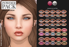 Powder Pack Catwa May Edition (Izzie Button (Izzie's)) Tags: powderpack catwa izzies sl glitter makeup