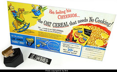 Lone Ranger Saddle Ring (toytent) Tags: loneranger saddlering cheerios cerealpremium 1951 photoviewer secretcompartment glowinthedark photostrip toysforsaleattoytentcom