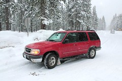Winter Transportation (C.P. Kirkie) Tags: oregon winter snow mowich oregonhighway58 4x4 ford fordexplorer 1999 1999fordexplorer