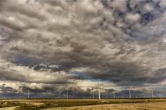 Gigantes.... (Martika64) Tags: molinos nubes cielo paisaje paisajerural windmills clouds sky landscape countryside color colorimage no person