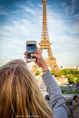 Eiffel tower ! (Guibs photos) Tags: eos7d efs1585mmf3556isusm paris toureiffel iledefrance france trocadéro champdemars téléphone smartphone photo monument tourisme touriste tower souvenir vacances holidays tourist tourism palaisdechaillot esplanade seine tour