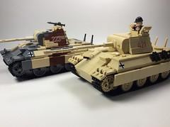 Panther tanks (mjbricks(flose master)) Tags: lego panther tank tan brickarms panzer ww2