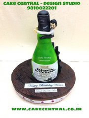 Whisky Bottle Cake  #designercake #delhi #fondant #themed #kidscake #whiskey #bottle #drunk #funny #cake #designer #delhi #newdelhi #southdelhi #friend #gift #vodka #booze #boyfriend #order #online (Cake Central-Design Studio) Tags: firstbrthday designercake delhi fondant themed kidscake