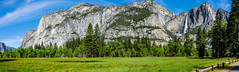 Yosemite Valley Meadow Panorama (randyherring) Tags: recreational nationalparksystem panorama waterfall historic park yosemitenationalpark ca mountains beauty outdoor vacation tourism california nature yosemitevalley unitedstates us