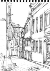 Lisbonne, quartier du Chiado (Croctoo) Tags: croctoo croquis croctoofr crayon lisbonne lisboa ville portugal