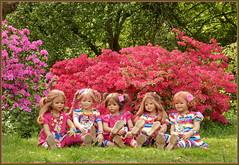 Kindergartenkinder ... wir treiben es bunt ... (Kindergartenkinder) Tags: grugapark essen kindergartenkinder blüte baum garten blume park frühling annette himstedt dolls azalee milina tivi margie annemoni sanrike porträt kind personen