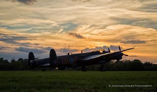Lincolnshire Lancaster Sunset