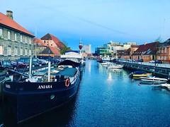 #Copenhagen canals #houseboats #europe #denmark #evening