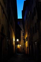 Firenze X, Toscana, Italy (Gonzalo Aja) Tags: firenze florence florencia toscana tuscany italy italia alley callejón calle street streetview sunset atardecer lights luces city ciudad urban urbano d3000 outdoor