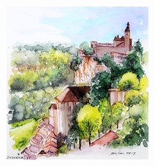 Rocamadour - Occitanie - France (guymoll) Tags: rocamadour occitanie france aquarelle watercolour watercolor croquis sketch sanctuaire