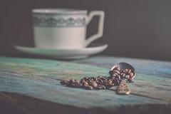 C.O.F.F.E.E (Ayeshadows) Tags: coffee beans cup spoon