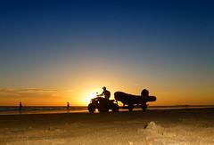The lifeguard (jantoniojess) Tags: cádiz mar sea andalucía lifeguard salvavidas socorrista playa playadelavictoria puestadesol sunset sky light lancha spain silueta silhouette