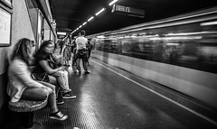 Passing by (Henka69) Tags: streetphoto bw monochrome subway metro motion movement publictransportation