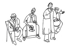"Ousmane Seye (h e r m a n) Tags: ousmaneseye afrikasun herman illustratie tekening drawing illustration dagboek diary journal ""studiodebakkerij"" rotterdam bergweg gistpodium muziek music musica muzika gitaar guitar senegal djembé percussie ritme rhythm afrika africa"