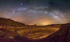 Chaco Canyon, Puebla Bonito (ryan.wykoff) Tags: photography panorama outerspace milkywaygalaxy milkyway sky stars samyang rokinon canon canon5dmarkiv longexposure newmexico chacocanyon