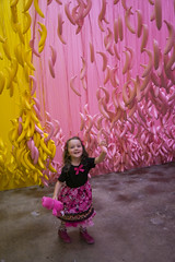Museum Of Ice Cream - Los Angeles 2017 (evaxebra) Tags: museum ice cream icecream moic museumoficecream art pink installation losangeles la downtown 7th luna minnie mouse dress hanging bananas yellow