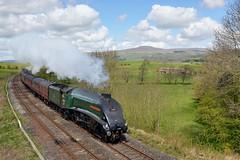 60009: Mainline Test (Gerald Nicholl) Tags: a4 lner 60009 unionofsouthafrica gresley eldroth yorkshire littlenorthwestern steam engine loco locomotive train express streamlined