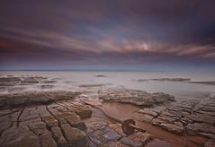 """ CREEPING TIDE "" (Wiffsmiff23) Tags: heritagecoastlinesouthwales nashpoint sunrise southwales traeth beach longexposure shipwreck rust rocks rock ru"
