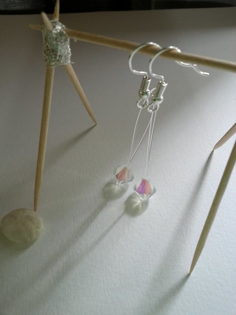 Floating Glass Drop Earrings - Not available for sale. Please contact me for special requests