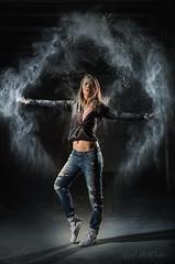 Janet B-t in Mehl (McWhite) Tags: girl pretty nice flour mehl shooting studio white black cute janet janetbt