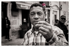 Celebrating 25 of April (portuguese freedom day) (JOAO DE BARROS) Tags: barros joão portugal people monochrome flower