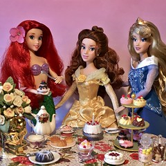 Happy Birthday Belle (MaxxieJames) Tags: belle aurora ariel sleeping beauty the little mermaid beast birthday paige ohara doll dolls disney princesses princess cake singing parks designer fairy tale limited edition store